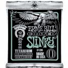 מיתרים לחשמלית ארני בל ERNIE BALL 3126 Coated Titanium RPS Not Even Slinky Electric 12-56