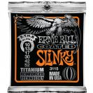 מיתרים לחשמלית ארני בל ERNIE BALL 3115 Coated Titanium RPS Skinny Top Heavy Bottom Slinky Electric 10-52