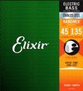 סט 5 מיתרים לבס אליקסיר ELIXIR NANO 0.45-1.35