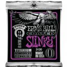 מיתרים לחשמלית ארני בל ERNIE BALL  3120 Coated Titanium RPS Power Slinky Electric 11-48