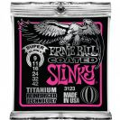 מיתרים לחשמלית ארני בל ERNIE BALL 3123 Coated Titanium RPS Super Slinky Electric 9-42