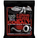 מיתרים לחשמלית ארני בל ERNIE BALL 2730 Cobalt 7-String Skinny Top Heavy Bottom Slinky Electric 10-62