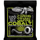 מיתרים לחשמלית ארני בל ERNIE BALL 2728 Cobalt 7-String Regular Slinky Electric 10-56