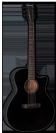 גיטרה אקוסטית ESP Tombstone A-300E BLK