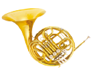 קרן יער (GOLDEN CUP JHFH1903 french horn(four pistones, single lacquer