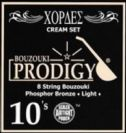 סט מיתרים לבוזוקי PRODIGY CREAM Phosphor Bronze Wound 0.10