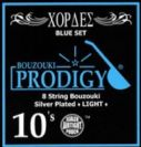 סט מיתרים לבוזוקי PRODIGY BLUE Silver Plated Wound 0.10
