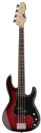 גיטרה בס ESP LTD AP-204 BURGUNDY BURST