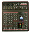 מיקסר 4 מיק', 4 סטריאו, אפקט, AUX, נגן USB, BT  פוניק PHONIC CELEUS 400