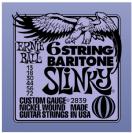 מיתרים לחשמלית ארני בל ERNIE BALL 2839 Baritone Slinky Electric 13-72