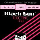 סט מיתרים לגיטרה חשמלית סברז 010 SAVAREZ Black Sun S1290L